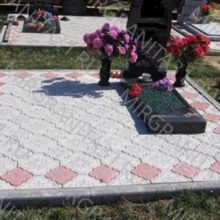 плитка гжелка на кладбище